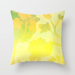 Sassy Sedge - warm colors Throw Pillow