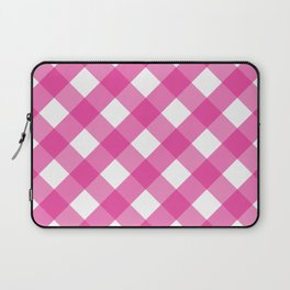 Pink & White Checkered Pattern-Mix and Match with Simplicity of Life Laptop Sleeve