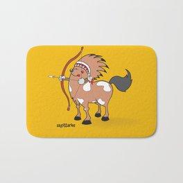 funny zodiac/sagittarius Bath Mat