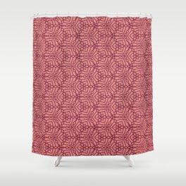 Magenta Chains 2 Shower Curtain
