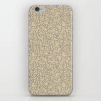 bones iPhone & iPod Skins featuring Bones by Jessica Santos