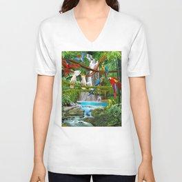 Enchanted Jungle Unisex V-Ausschnitt