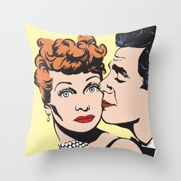 Lucy and Desi Throw Pillow