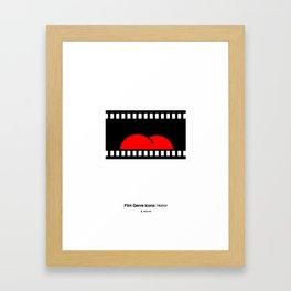 Horror Film Genre Icon Framed Art Print