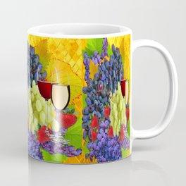 Strawberries, Grapes & Wine Still Life Harvest Coffee Mug