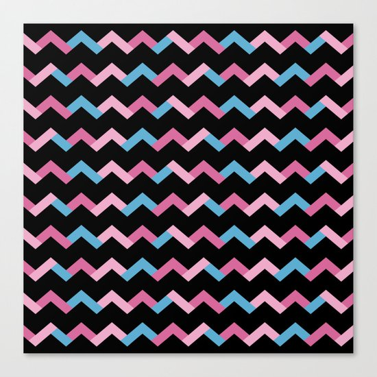 Geometric Chevron Canvas Print