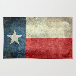 Texas flag, Retro style Vertical Banner Rug