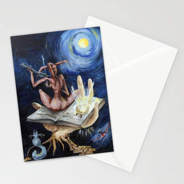 Dreams on a moonlit night Stationery Cards