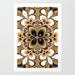 Harmonic Sand Fractal Art Print Art Print