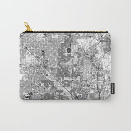 Phoenix White Map Carry-All Pouch