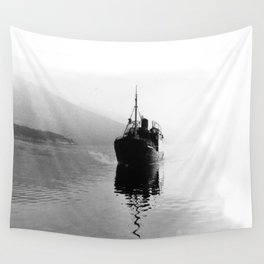 Fjord ship Wall Tapestry