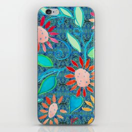 zakiaz ocean of flowers iPhone Skin