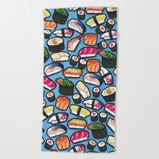 Sushi Blue Beach Towel