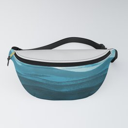 Ocean waves paint Fanny Pack