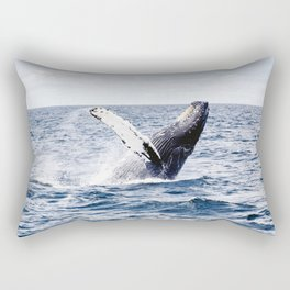 Humpback Whale Ocean Rectangular Pillow