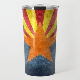 State flag of Arizona in Vintage Grunge Travel Mug