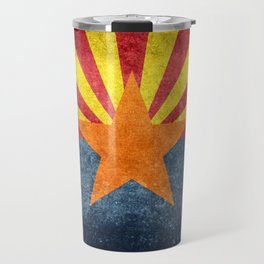 State flag of Arizona in Vintage Grunge Travel Mug