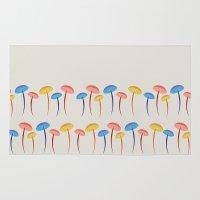 mushroom Area & Throw Rugs featuring Mushroom by Emmyrolland