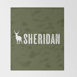 Deer: Sheridan, Wyoming Throw Blanket