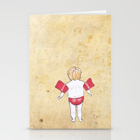 Would the next Michael Phelps please stand up? Stationery Cards