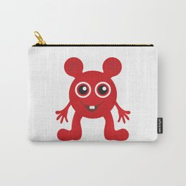 Red Smiley Man Carry-All Pouch