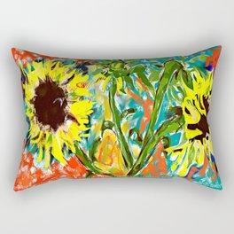 GIRASOLES by Maricela del Rio Rectangular Pillow
