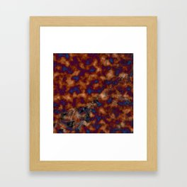 Brown vibration Framed Art Print