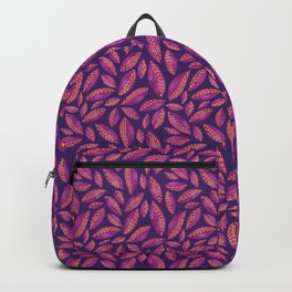 Purple & Pink Autumn Leaves Backpack