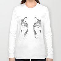 wolves Long Sleeve T-shirts featuring WOLVES by Aonair Designs