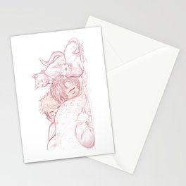 Sleepy With Cats Stationery Cards