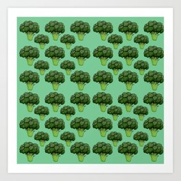 Broccoli Pattern Art Print