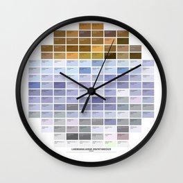 PANTONE glossary - Iceland - Landmannalaugar-Hrafntinnusker Wall Clock