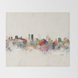 istanbul skyline Throw Blanket