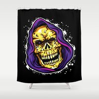 evil dead Shower Curtains featuring EVIL by DesecrateART (Infected)