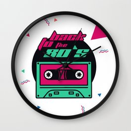 Back to the 80's Wall Clock