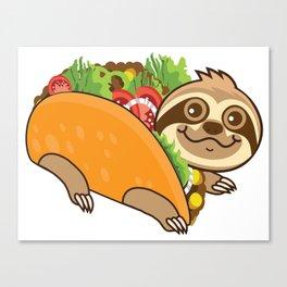 Sloth Taco Canvas Print