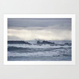 BROODY PACIFIC OCEAN Art Print