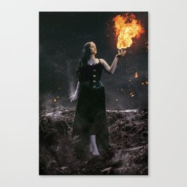 Pyromancer Canvas Print
