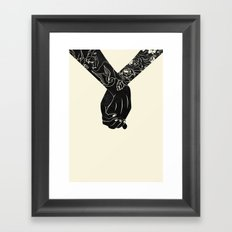 Holding On Framed Art Print