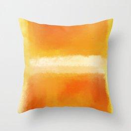 Mark Rothko Interpretation Orange On Orange Throw Pillow