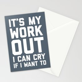 It's My Workout Funny Gym Quote Stationery Cards