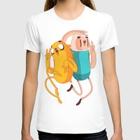 finn and jake T-shirts featuring Finn & Jake by Daniel Mackey