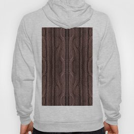 Brown braid jersey cloth texture abstract Hoody