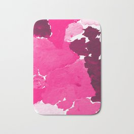Saria - abstract painting pink magenta blush pastel dorm college girly trend canvas art Bath Mat