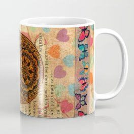 Hearts and Butterfly Hamsa Coffee Mug