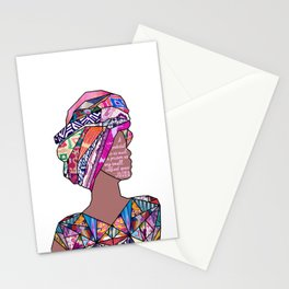 Woman in Colors - 7 - A pedestal is as much a prison as any small, confined space. Stationery Cards