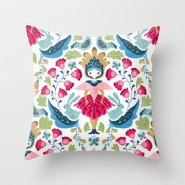Svedish doll Throw Pillow