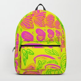 Yellow Butter Fly Backpack