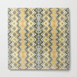 Modern Blue and Yellow Kilim Metal Print