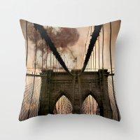 bridge Throw Pillows featuring Bridge by Daniela Battaglioli